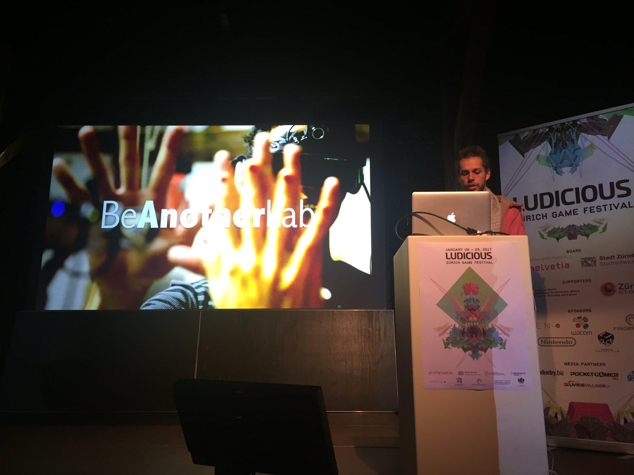 Presentation BeAnotherLab in Ludicious – Zurich Game Festival